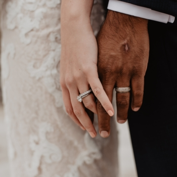 Man And Woman Hands With Wedding Ring